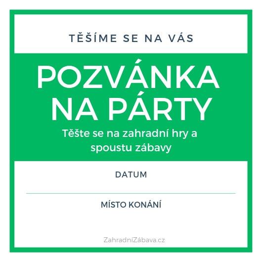 Pozvánka na párty